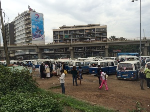Minibus terminal. Only one bus goes to the right place
