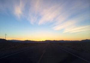 Sunrise on the CA/NV border
