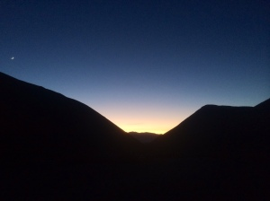 Sunset at 4,100 ft.