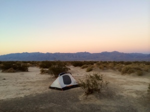 Campsite in Stovepipe Wells