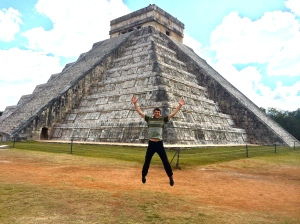 Yesterday I was in LA, today I'm at Chichen Itza!