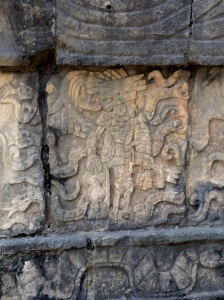 Typical carving from the warrior temple where human sacrifices were performed