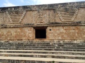 Intricate stonework at Uxmal