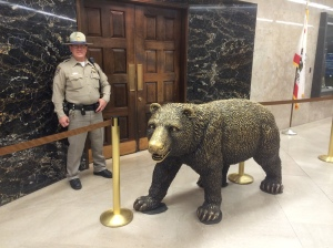 The bear statue outside the governor's office is awesome!!!