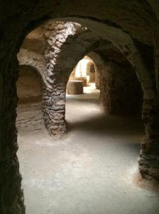 Typical hallway in the underground gardens
