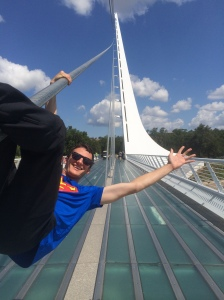 Hanging out on the Sundial Bridge