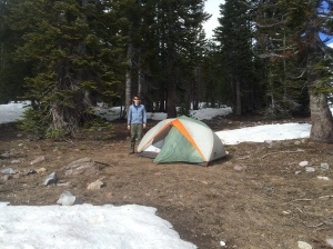 Setting up at Horse Camp (7,900 ft)
