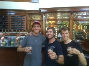 Touring the Brewery with our awesome tour guide Dwight.