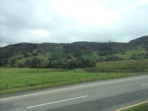 Beautiful countryside on the road to Tunja