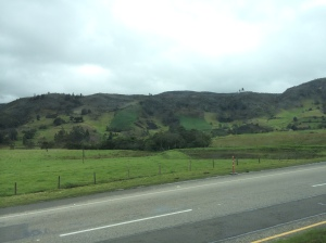Beautiful countryside on the road to Tunja