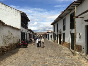 Typical street in Villa de Leyva
