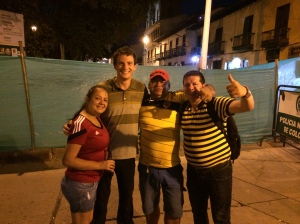 Hanging out with my new Colombian friends!