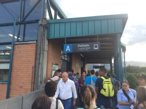 Entrance to the Medellin Metro