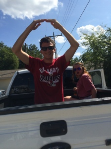 The Oklahoma experience: riding in the back of a pickup truck