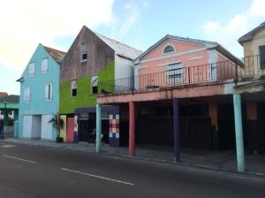 Abandoned buildings near downtown Nassau