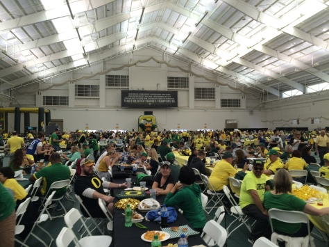 Bring on the tailgating. This area is also great for the rainy Oregon fall weather.