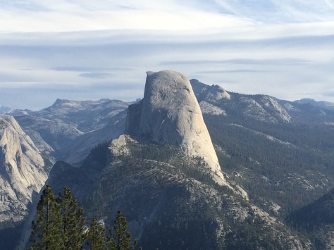 Final view of Half Dome- from Glacier Point
