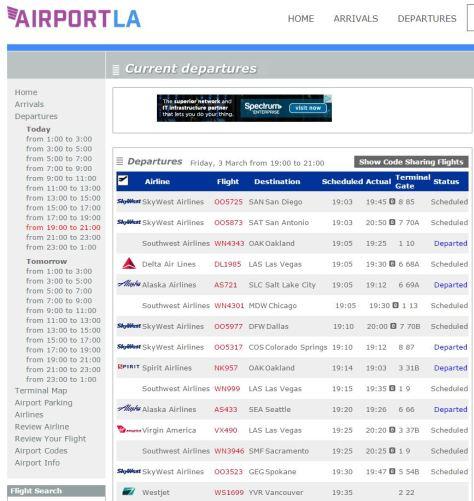lax-departures